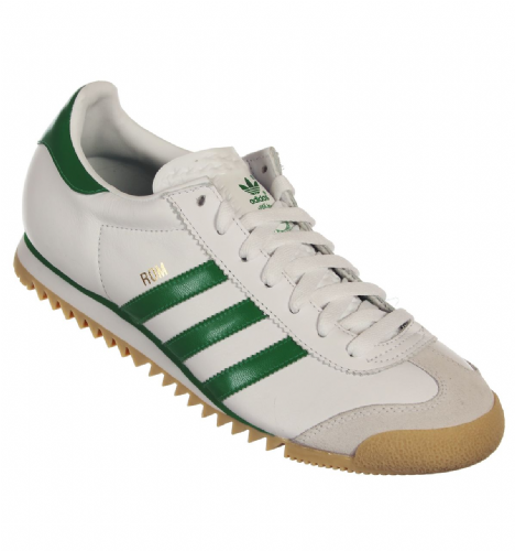 Adidas Originals Rom Mens Limited Edition White Green Retro Leather Gum Sole Trainers